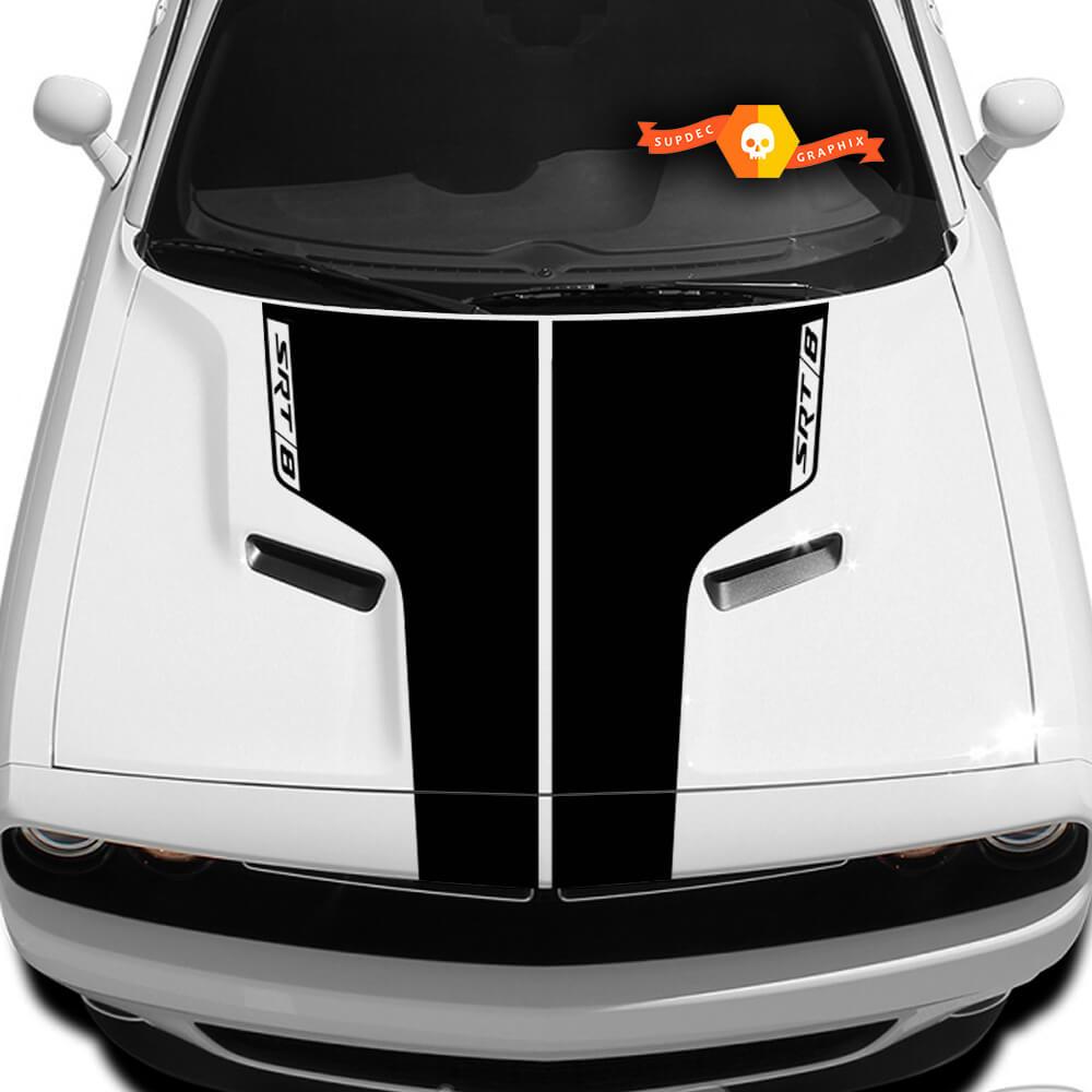 Dodge Challenger SRT-8 Hood T Aufkleber mit Aufschrift SRT8 Sticker Hood Grafik passt zu den Modellen 09 - 14