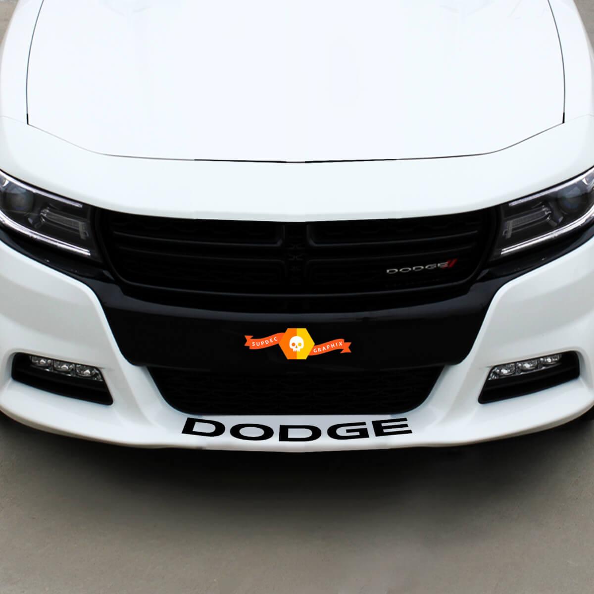 Dodge Front Spoiler Decal Sticker Grafik passt zu allen Modellen