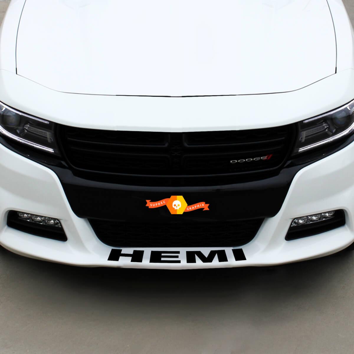 Dodge HEMI Front Spoiler Decal Sticker Grafik passt zu allen Modellen