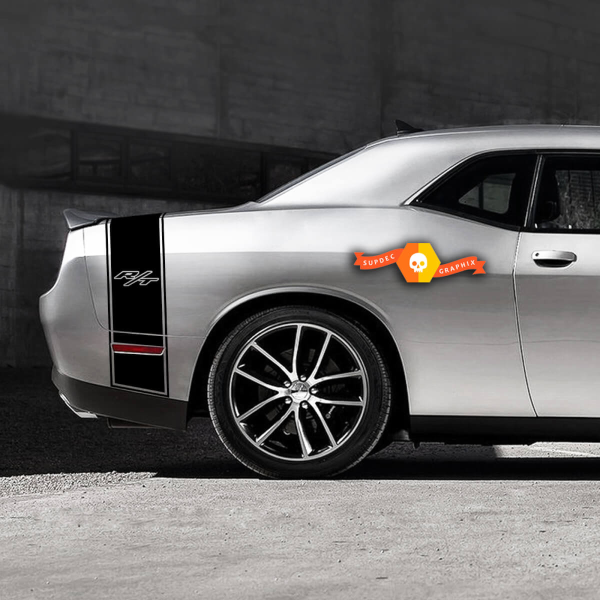 Dodge Challenger Schwanzband R / T Aufkleber Aufkleber Grafiken passt zu Modellen