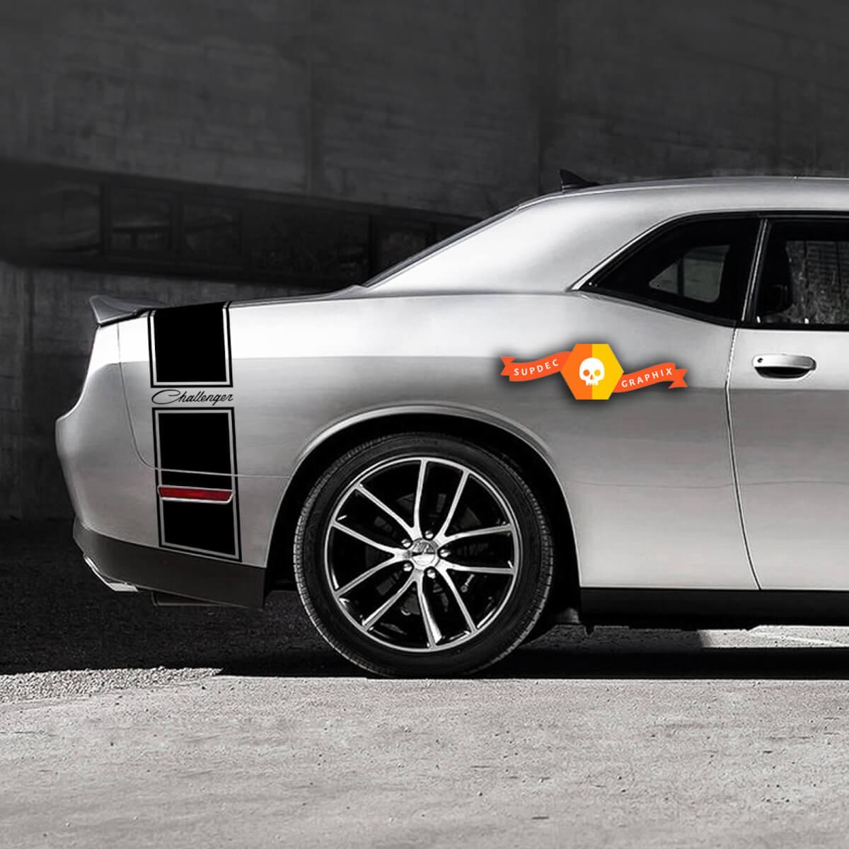 Dodge Challenger Retro Schwanzband Aufkleber Aufkleber Grafiken passt zu Modellen