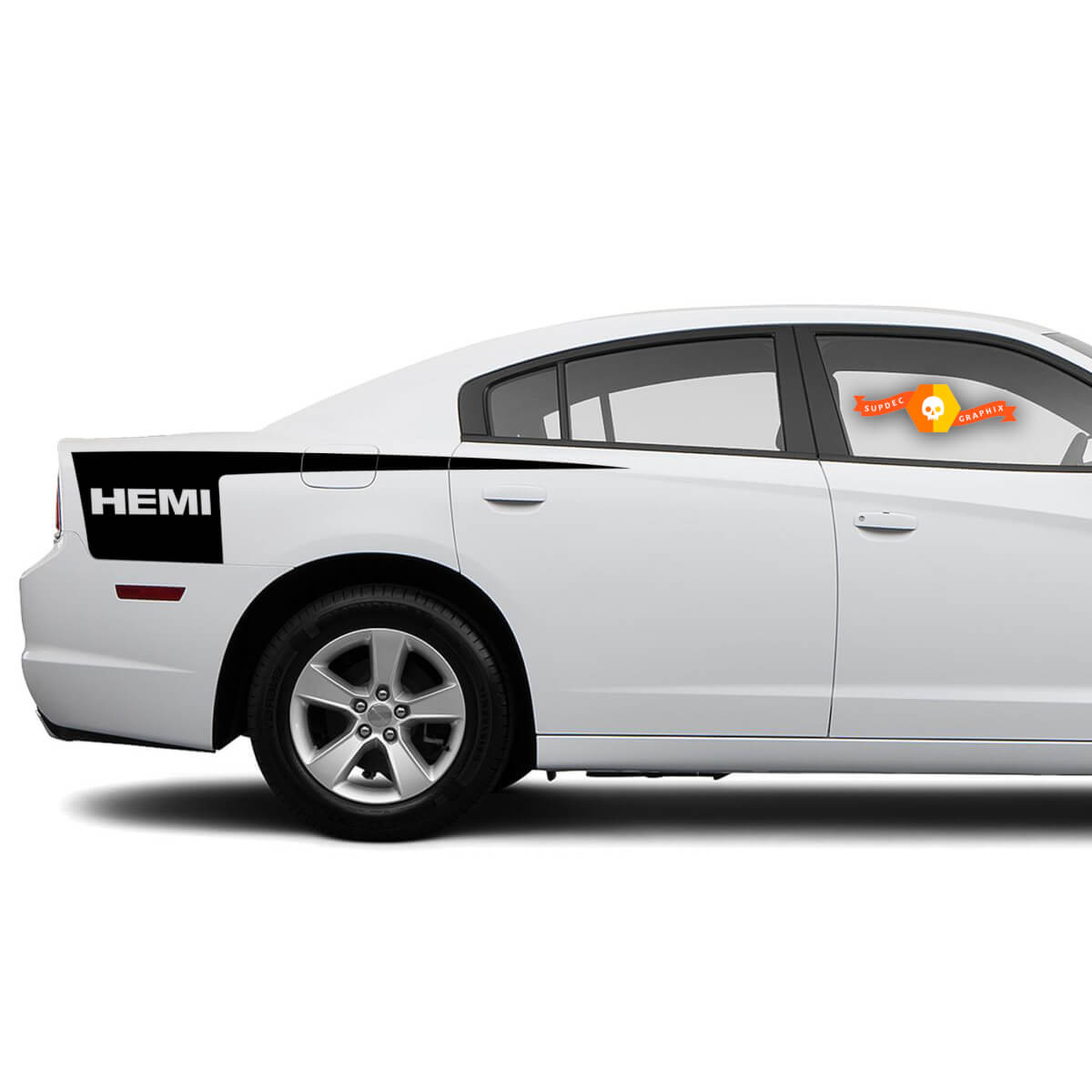 Dodge Charger HEMI side Hatchet Stripe Decal Sticker graphics fits to models 2011-2014