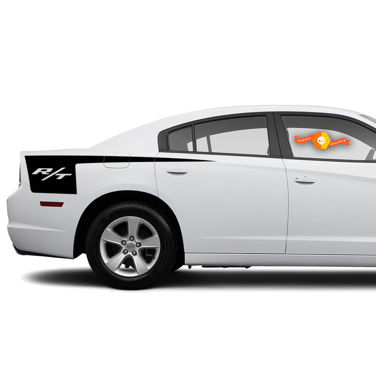 Dodge Charger R / T Seite Beil Streifen Aufkleber Aufkleber Grafiken passt zu Modellen 2011-2014