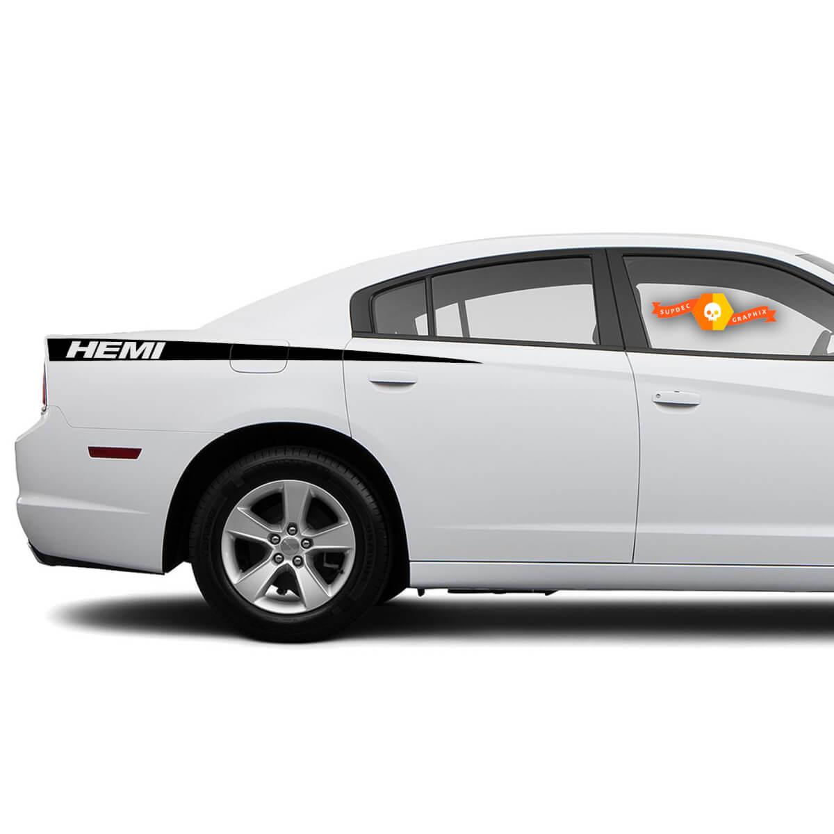 Dodge Charger Hemi Aufkleber Aufkleber Seitengrafiken passen zu Modellen 2011-2014