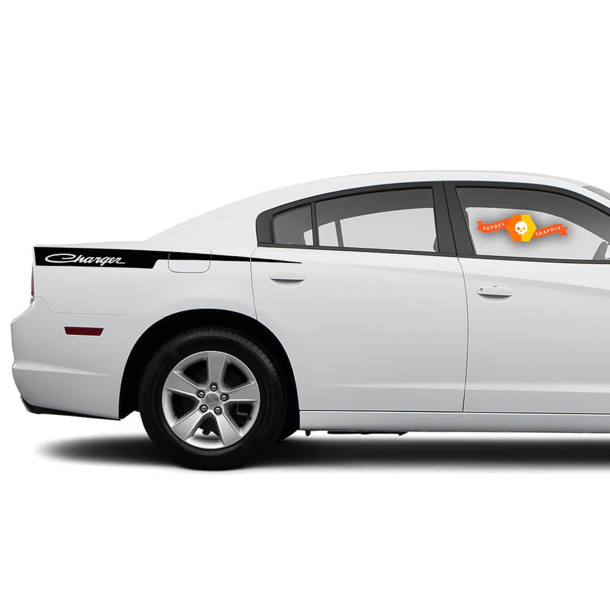 Dodge Charger Retro Rasiermesser Aufkleber Aufkleber Seite Grafiken passt zu Modellen 2011-2014