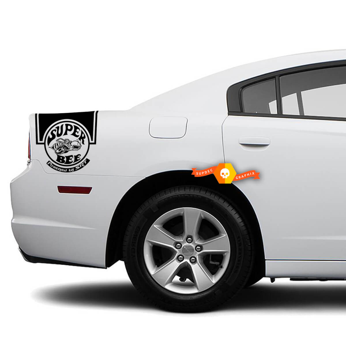 Dodge Charger Rückseite Band Aufkleber Aufkleber Super Bee SRT Grafik passt zu Modellen 2011-2014