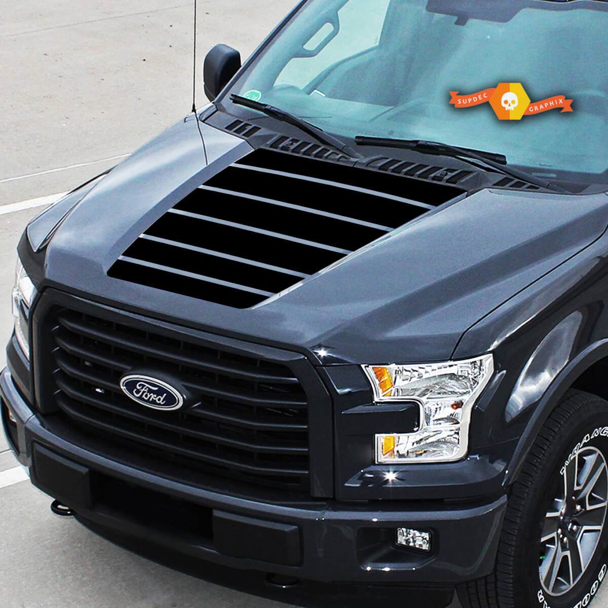 Für Ford F-150 Mittelhaube Grafik Streifen Vinyl Aufkleber LKW Aufkleber 15-20