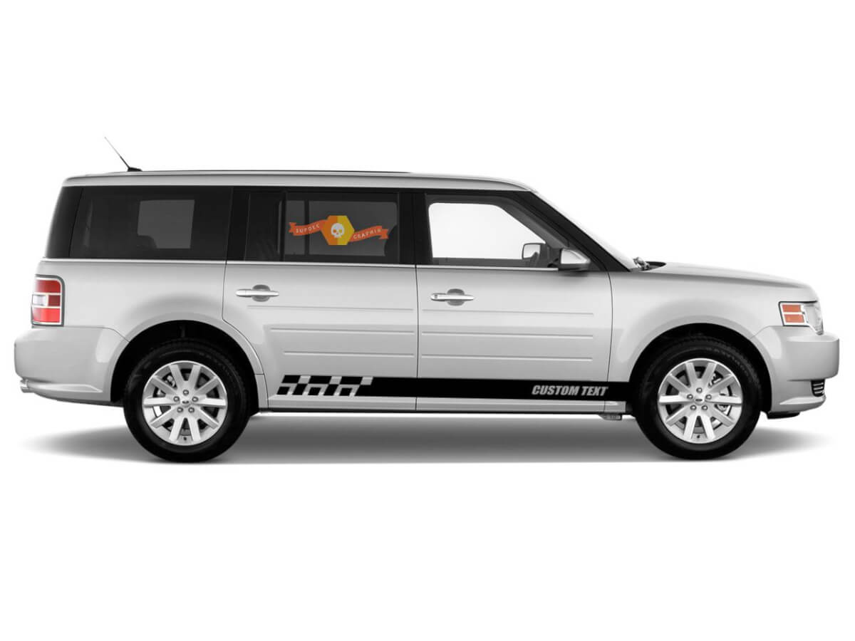 2x side Ford Flex Vinyl Stripes body decal vinyl graphics sticker Custom Text style 4