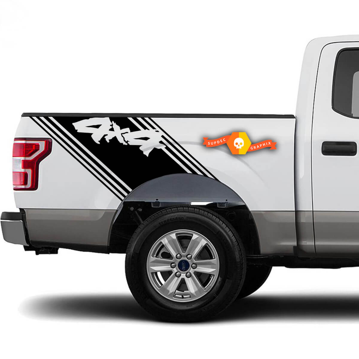 2 LKW-Ladefläche 4x4 verblassen Vinyl Aufkleber Grafik Aufkleber Streifen Ford GMC Toyota Dodge