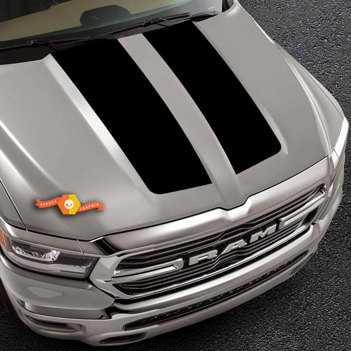 LKW Vinyl Aufkleber 2019-2020 Ram Hood Black Out Design Pickup Fahrzeug Vinyl Grafik Aufkleber Aufkleber
