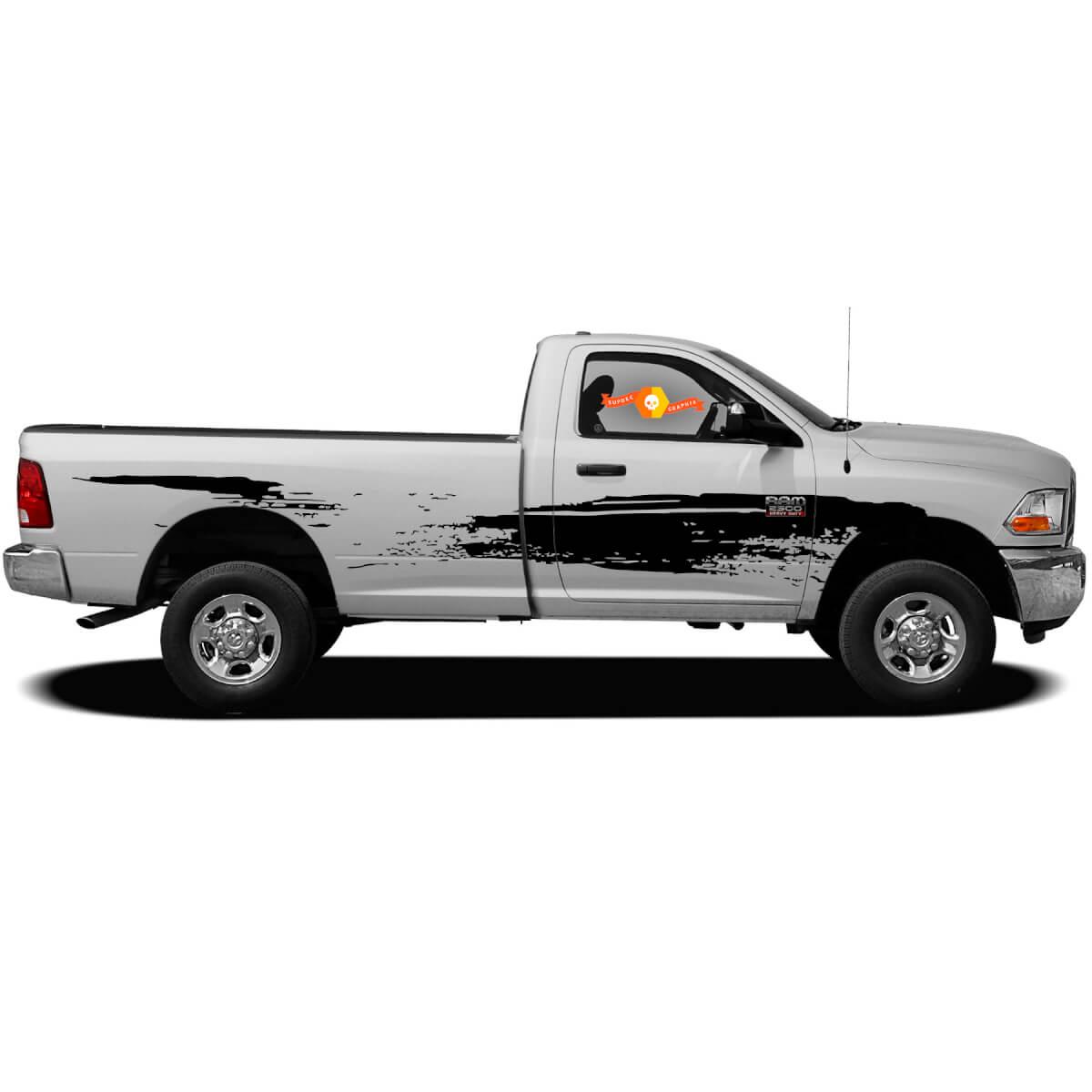 Splatter Marks Splash Mud Mudding Seitenbett Türen Pickup Van Fahrzeug Distressed Grunge Truck Auto Vinyl Grafik Aufkleber Aufkleber Nacht f-150 Tundra Widder