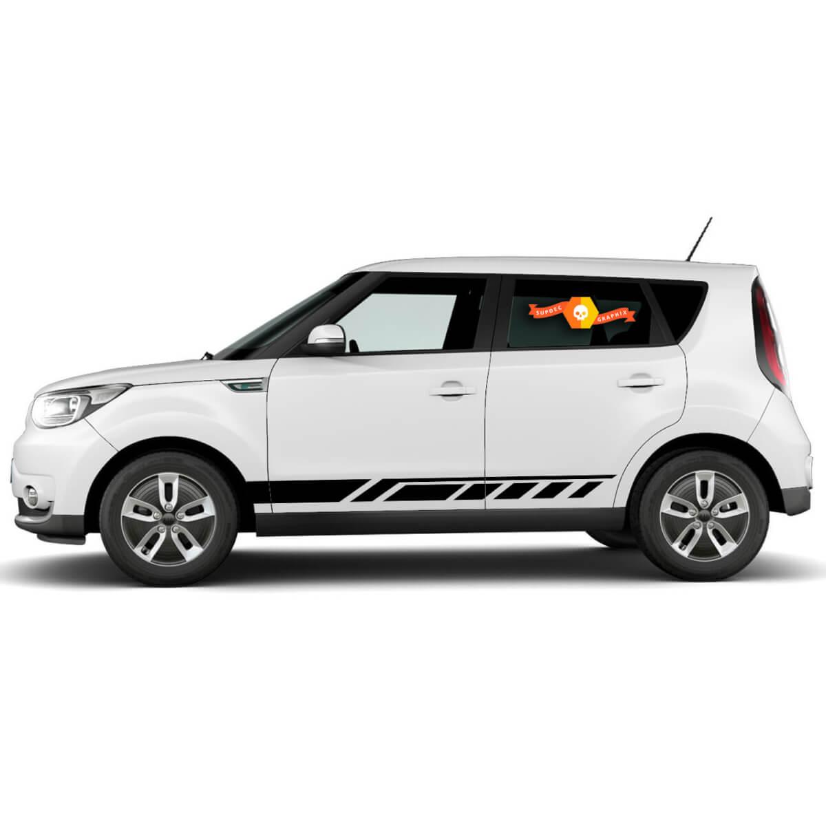 Auto Aufkleber Grafik Aufkleber Kipphebel Streifen Seiten Kit für Kia Soul