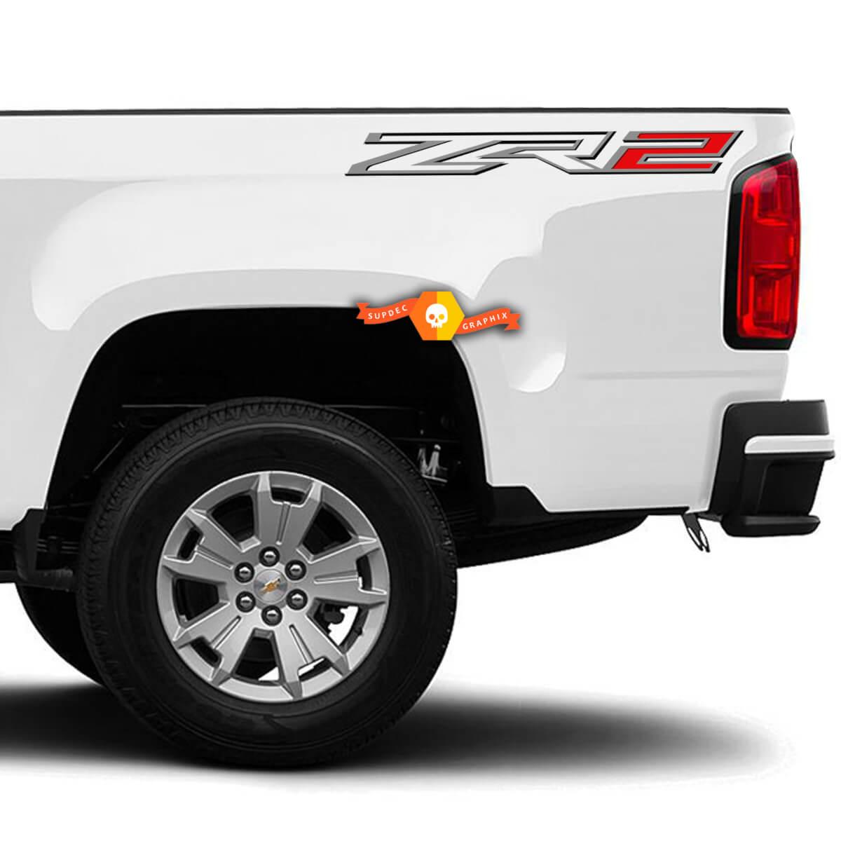 GROSSE Chevy Colorado ZR2 Bed Side Abzeichen Aufkleber (2er Set)