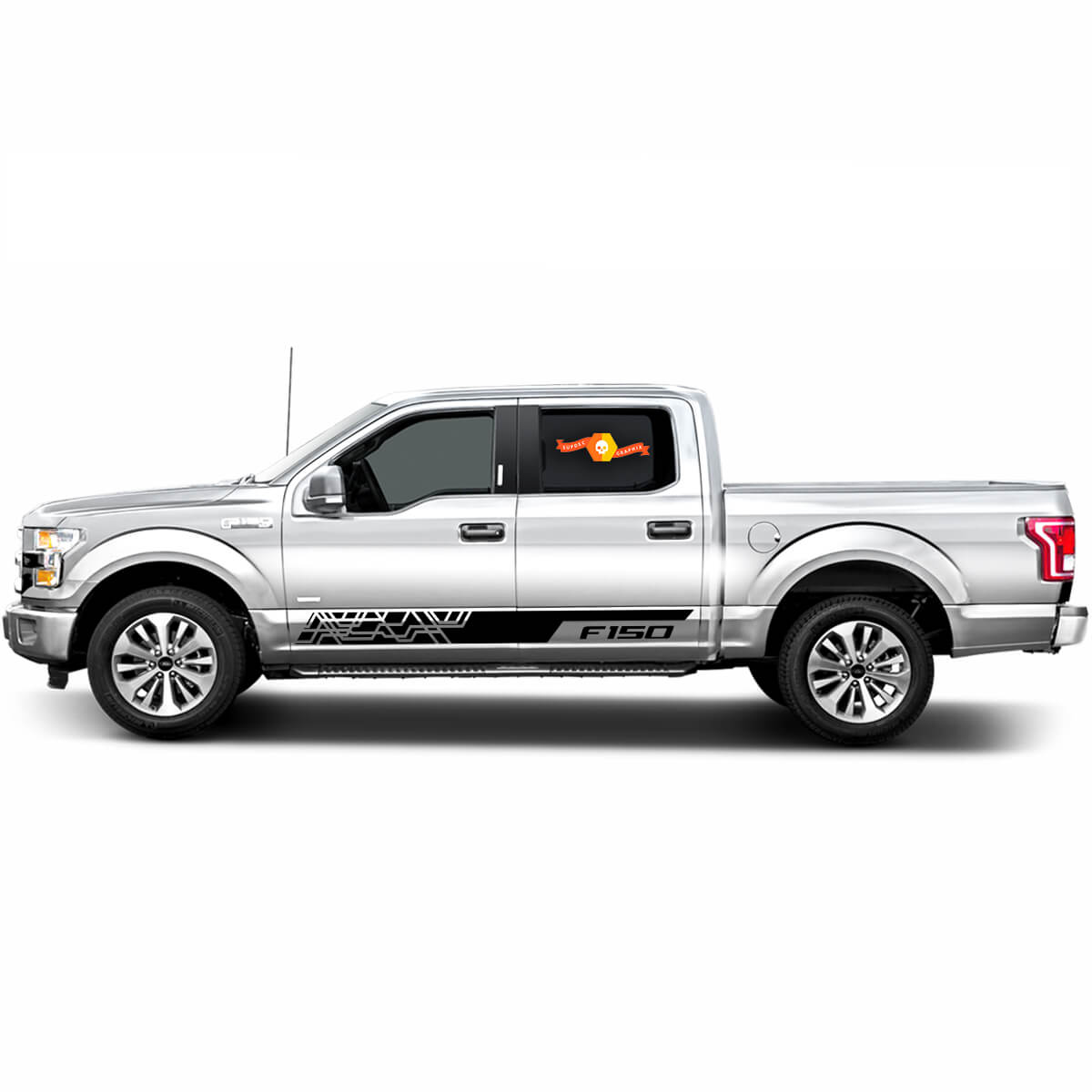 Ford F-150 F150 Vinyl Decal Sticker Graphics Side Door x2