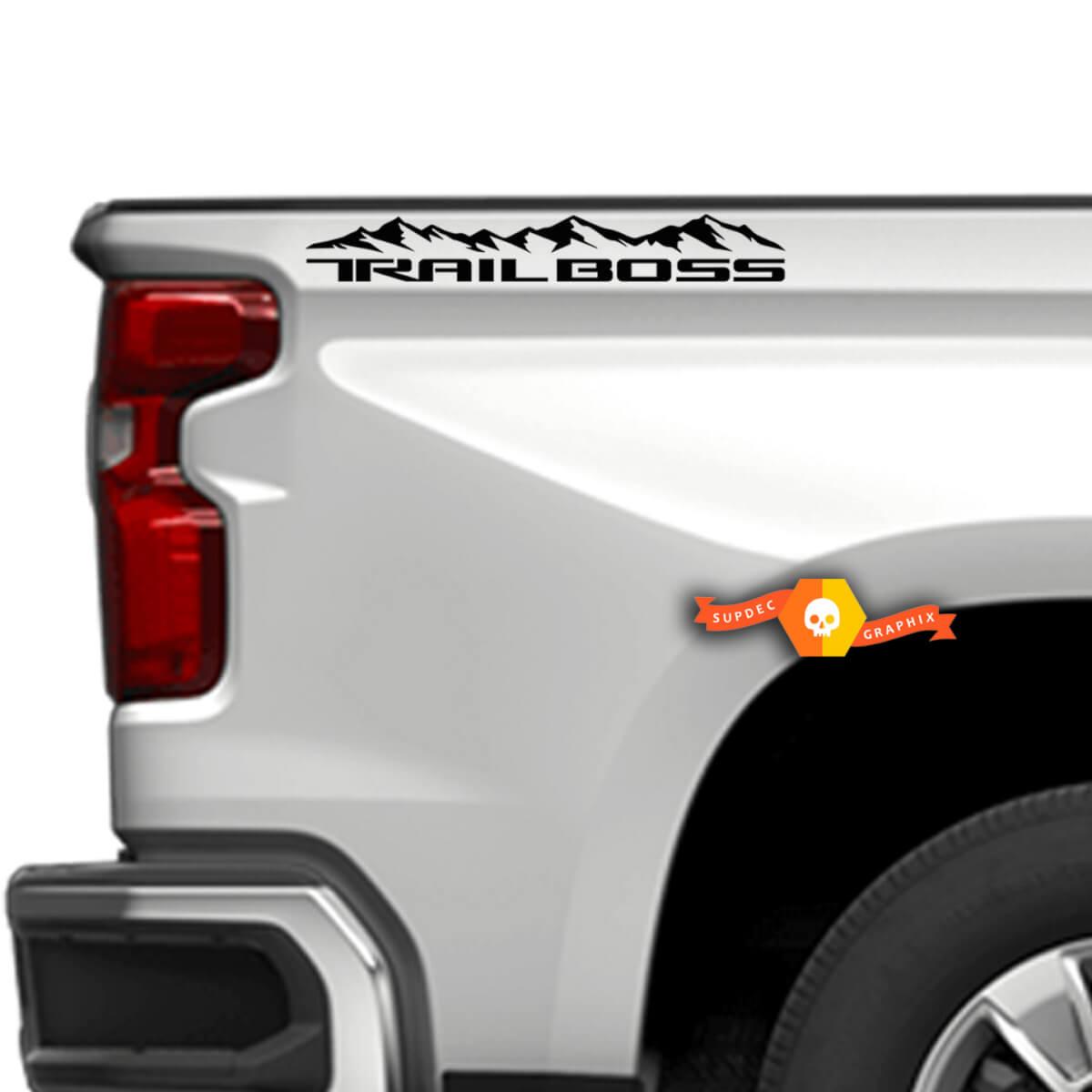 2019 2020 Chevy Silverado Mountain Trail Boss Z71 RST LTZ Aufkleber auf der Bettseite 4WD 4X4 Aufkleber Aufkleber