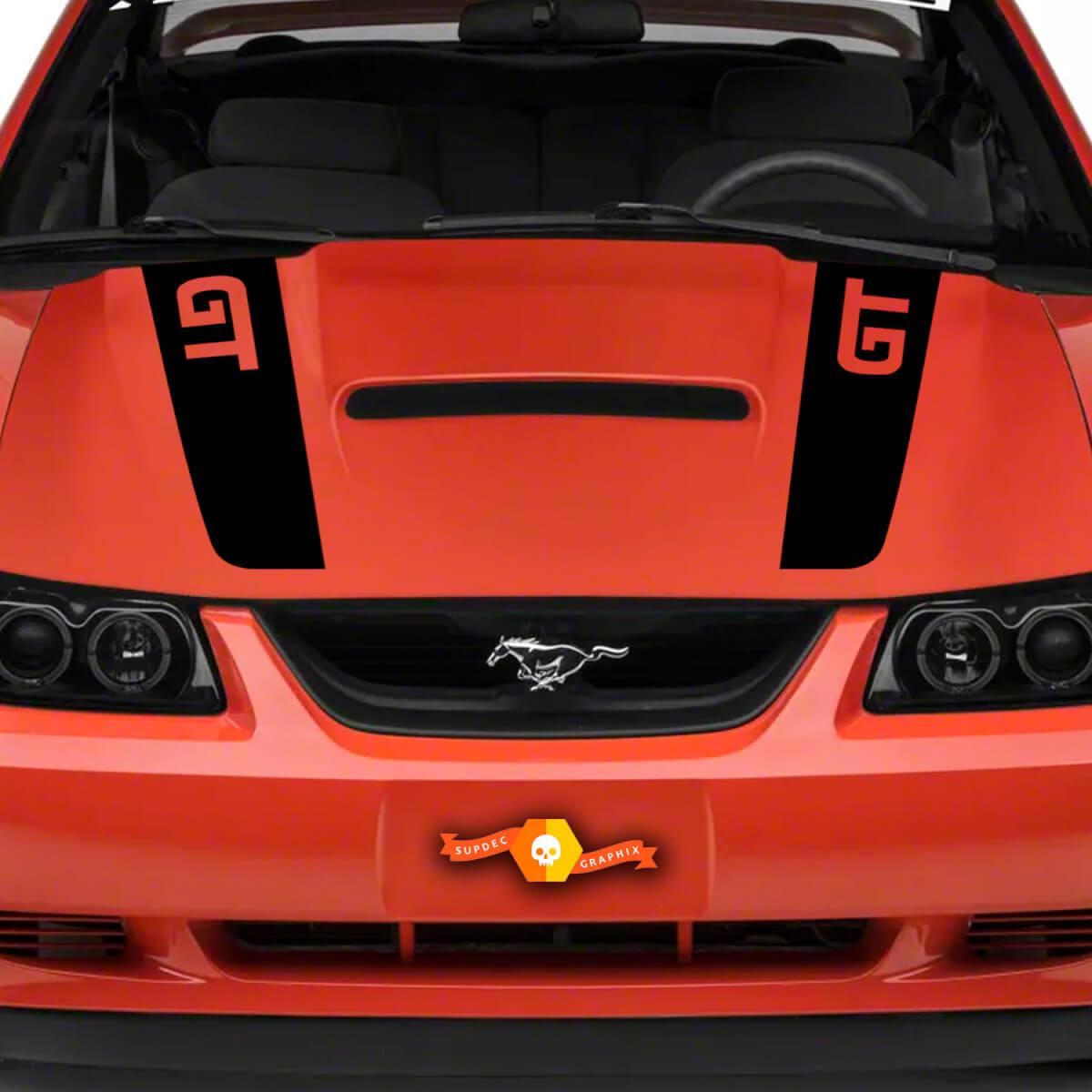 1999 - 2004 Ford Mustang GT Haubenstreifen Aufkleber Fox Body Beliebige Farbe