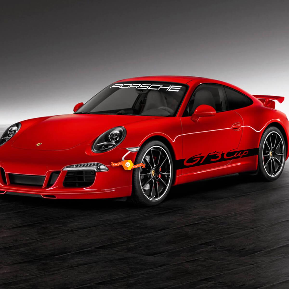 Porsche 911 GT3 Cup Seitenstreifen Kit Aufkleber Aufkleber