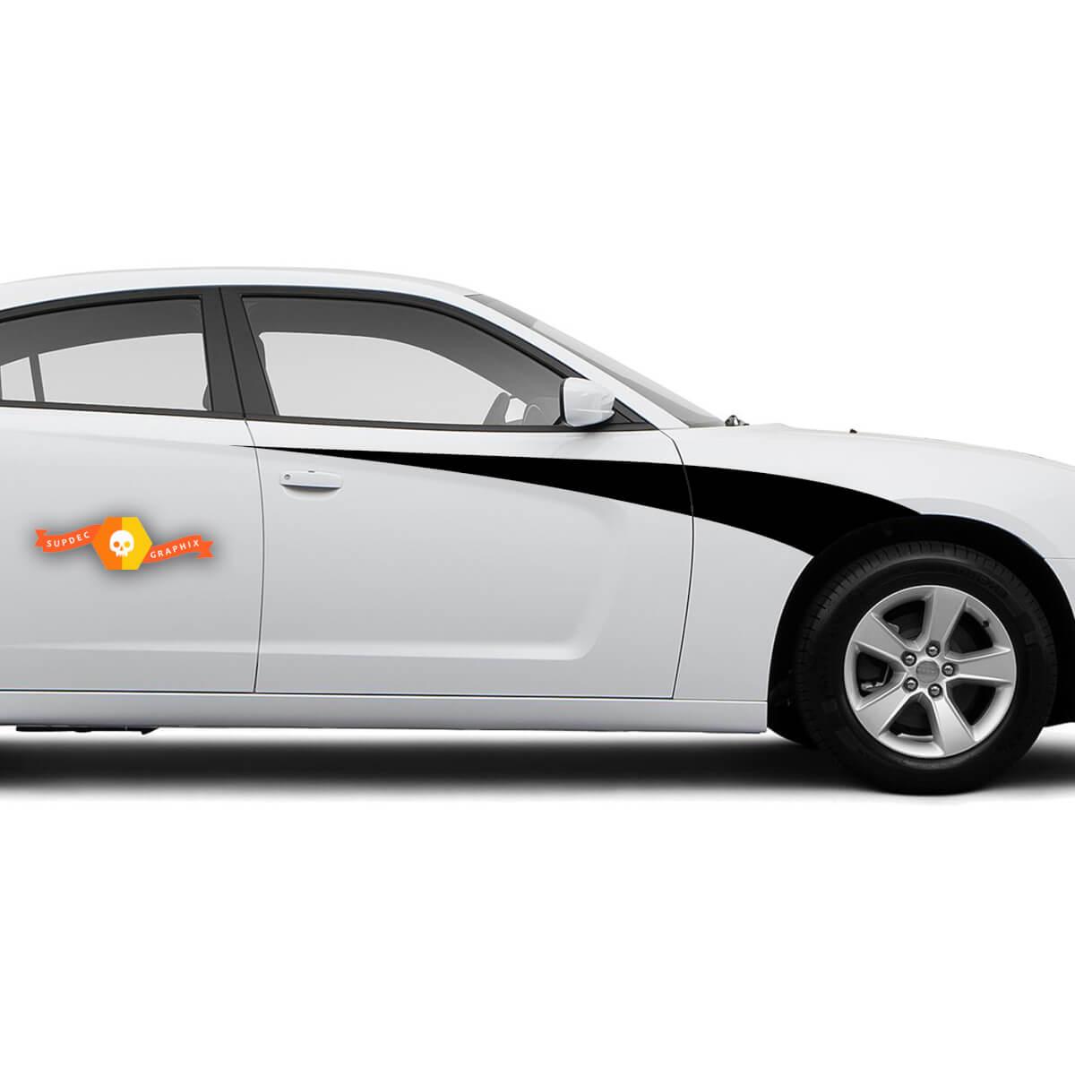 Dodge Charger Bodyline Seitenakzent Streifen Grafik Abziehbilder