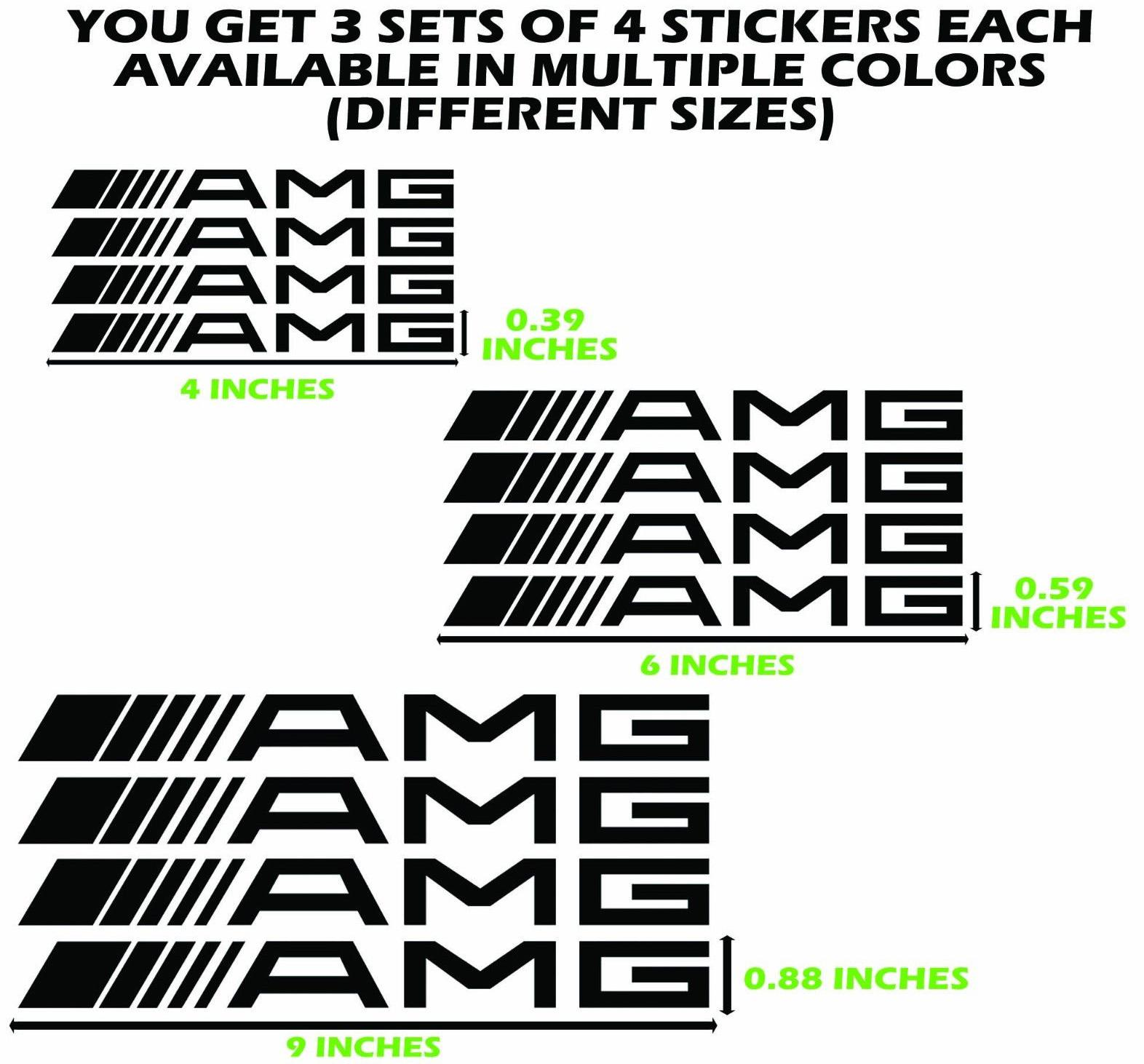 AMG decal sticker yellow gold chrome c63 c300 c55 g wagon mercedes