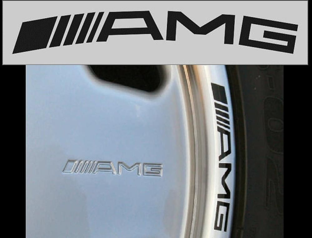 4 AMG Mercedes Benz Räder ML350 C250 c300 c350 e350 GL550 Aufkleber