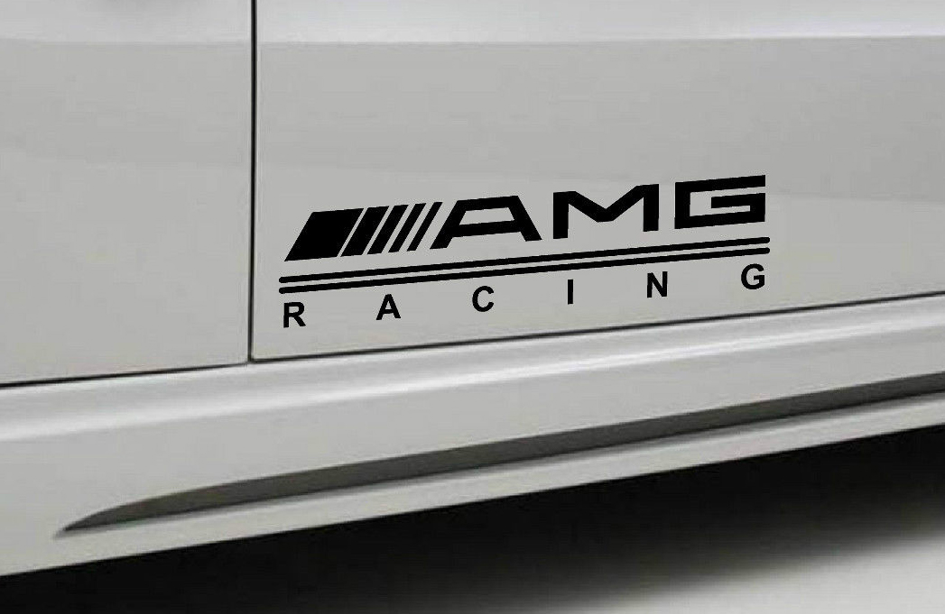 2 amg racing mercedes benz decal sticker sport door for A mercedes benz product sticker