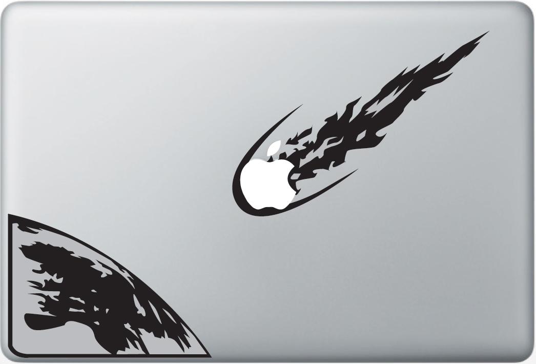 Asteroid apple macbook decal sticker