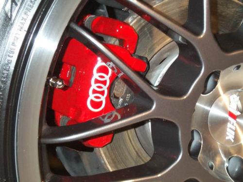 8 x AUDI Brake Caliper Calliper Decals Stickers A1 A2 A3 A4 A5 A