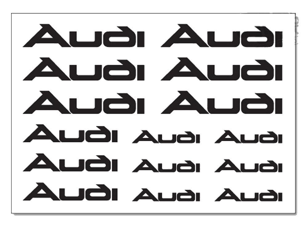 AUDI Brake Caliper Decals Stickers TT A3 A4 A5 A6 Q5 S-line Quat