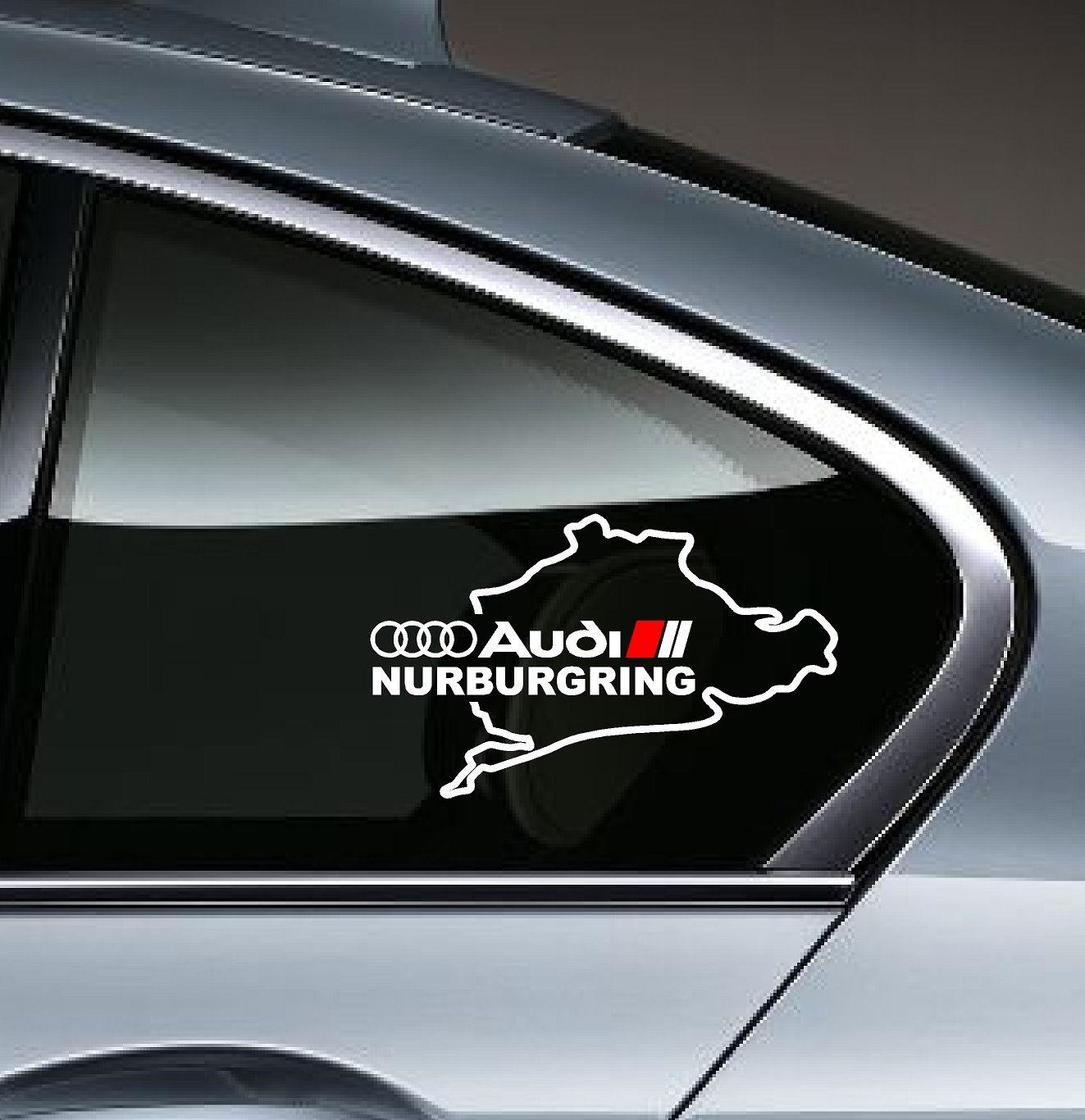 2 AUDI NURBURGRING A8 Q3 Q5 Q7 TT RS3 RS4 Decal Sticker