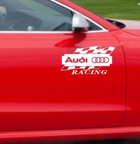 2 AUDI RACING A3 A4 A5 A6 A8 Q3 Q5 Q7 TT RS4 S4 Decal sticker