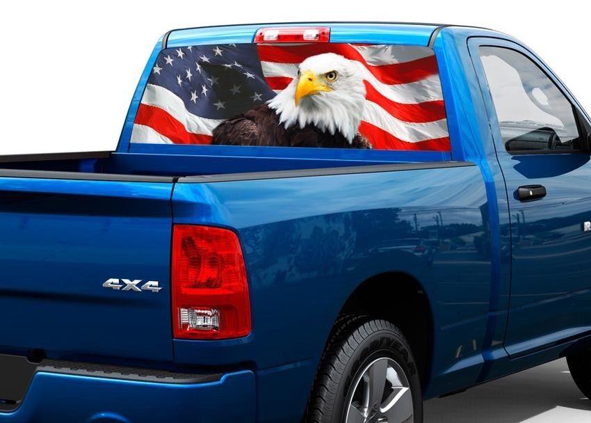 American Eagle Flag Vereinigte Staaten Heckscheibe Grafik Aufkleber Aufkleber LKW SUV