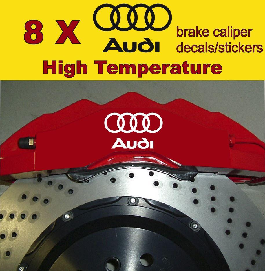 8 X Audi Brake Caliper Decals Stickers Vinyl