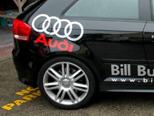 2 Audi Sport SIDE Aufkleber Aufkleber TT A3-8 S4 S5 Q3 Q5 Q7 S6 RS4