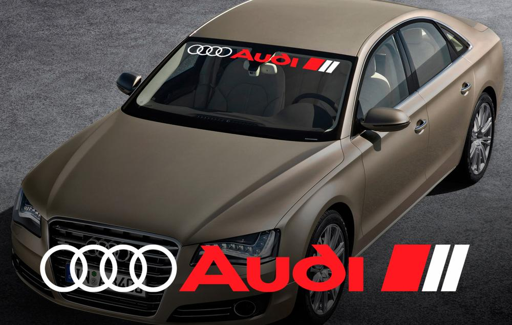 Product: AUDI windshield window front decal sticker for A4 A5 A6 A8 S4 S5 S8 Q5 Q7 TT RS 4 RS8