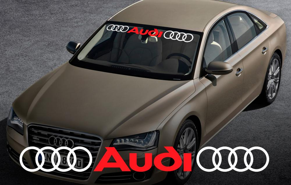 Audi Windshield Window Front Decal # 2 Sticker voor A4 A5 A6 A8 S4 S5 S8 Q5 Q7 TT RS 4 RS8