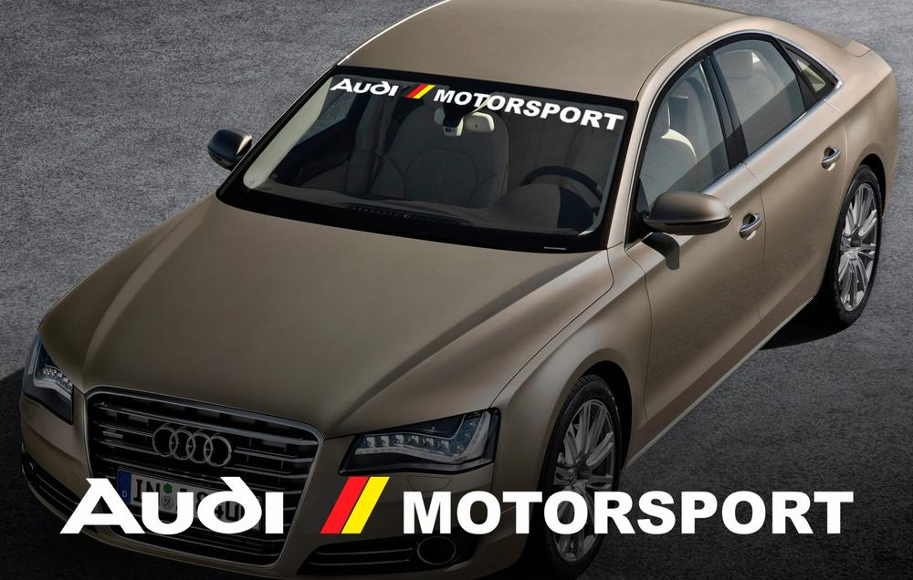 AUDI motorsport windshield window front decal sticker for A4 A5 A6 A8 S4 S5 S8 Q5 Q7 TT RS 4 RS8