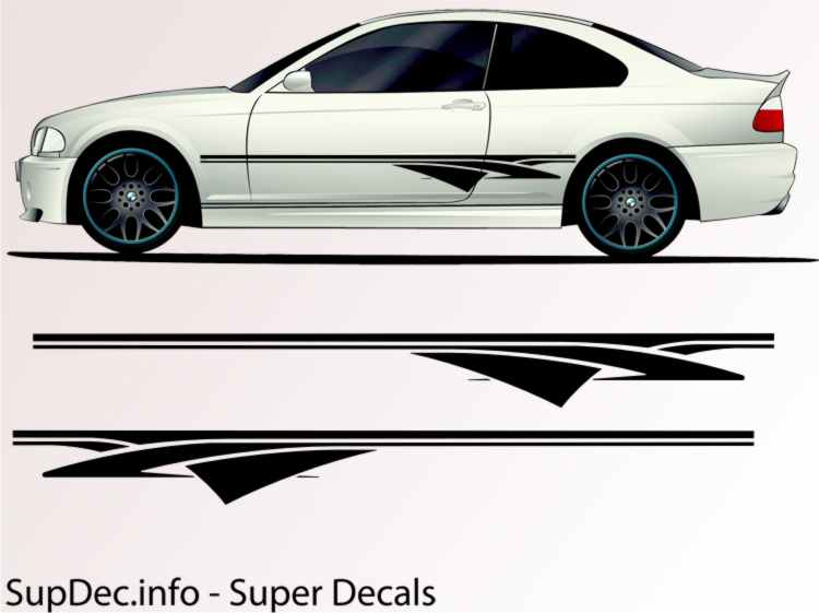 Vinyl auto body graphics exterior outside decal sticker b107