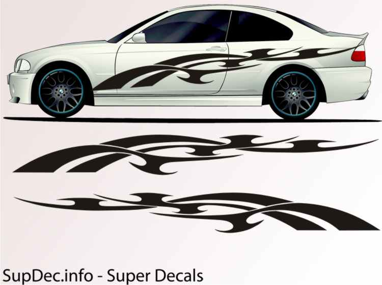 Vinyl Auto Body Graphics EXTERIOR OUTSIDE Decal sticker B719