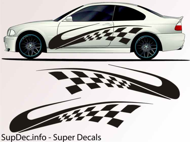 Vinyl auto body graphics exterior outside decal sticker b726