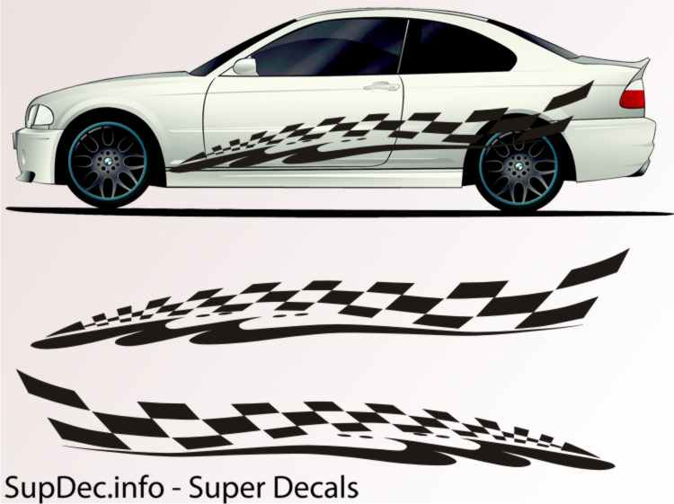 Vinyl auto body graphics exterior outside decal sticker b748