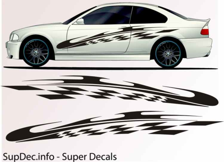 Vinyl Auto Body Graphics EXTERIOR OUTSIDE Decal sticker B774