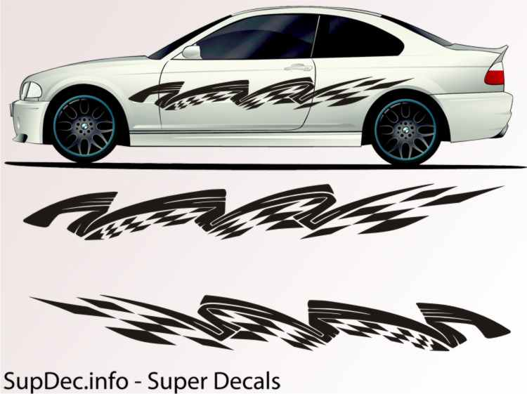 Vinyl Auto Body Graphics EXTERIOR OUTSIDE Decal sticker B779
