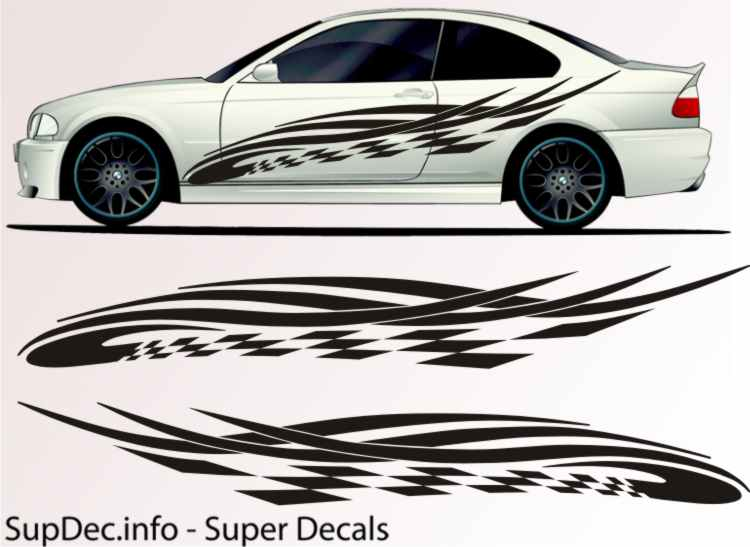 Vinyl Auto Body Graphics EXTERIOR OUTSIDE Decal sticker B781