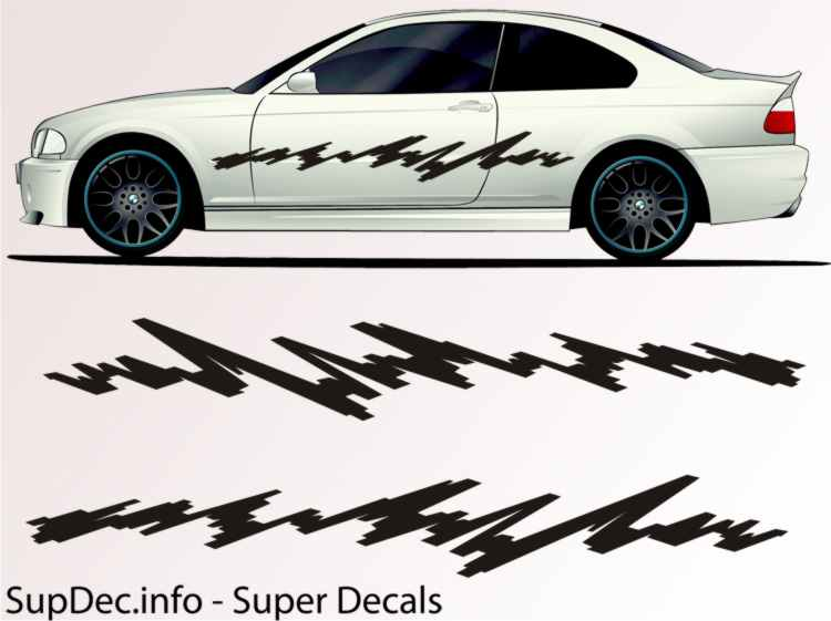 Vinyl Auto Body Graphics EXTERIOR OUTSIDE Decal sticker B790