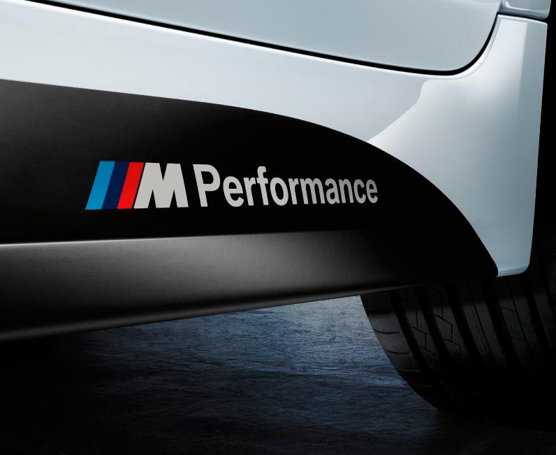 BMW M Performance SEITE M3 M5 M6 325 328 540 Aufkleber Aufkleber Benutzerdefiniertes Emblem-Logo