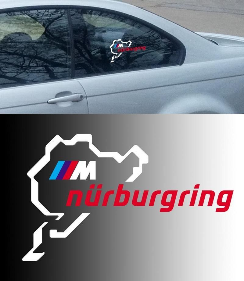 Bmw motorsport m nurburgring ring window body racing vinyl decal sticker
