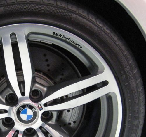 Bmw performance wheels 19 fits to all models m3 m5 m6 vinyl decal sticker