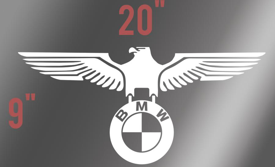 Bmw Eagle German Car Rear Window Vinyl Stickers Decals For