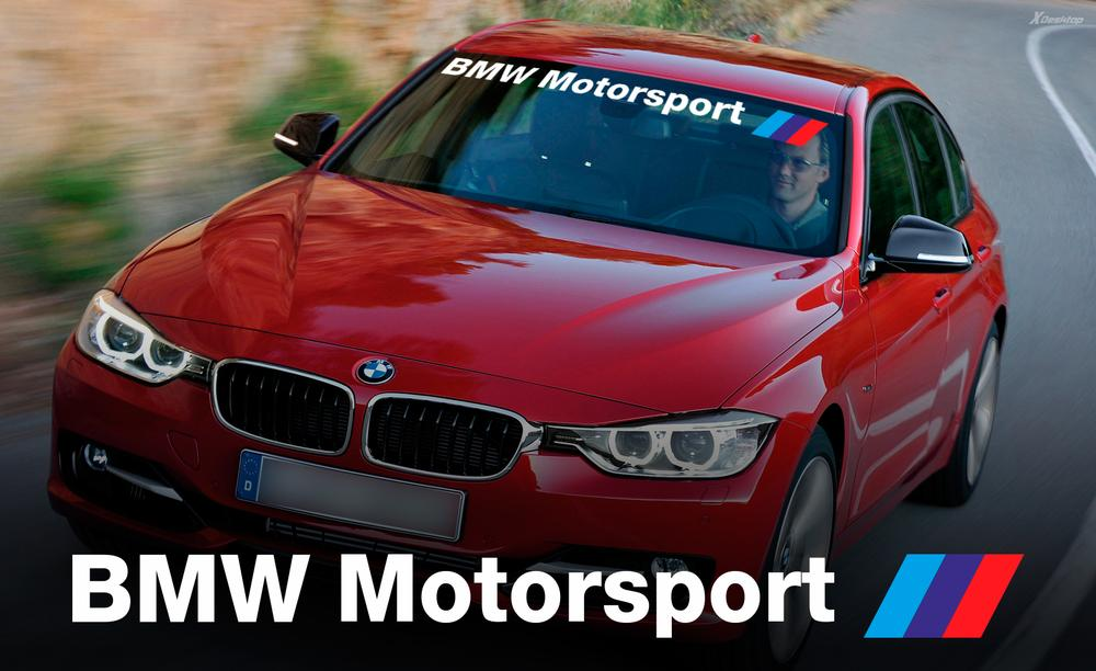 BMW Motorsport WINDSHIELD BANNER Window decal sticker for M3 4 5 6 e46 e36