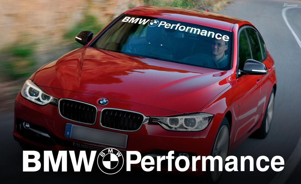 Bmw performance windshield banner window decal sticker for m3 4 5 6 e46 e36